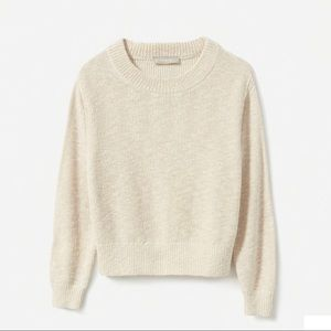 Cotton-Linen Crew Sweater
